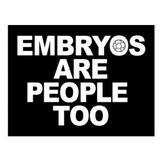 Embryos Are People Too Postcards