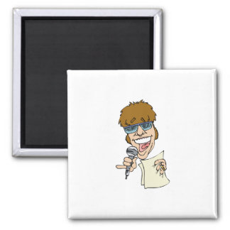 Emcee Kee 2 Inch Square Magnet