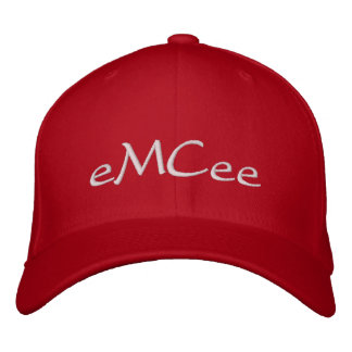 eMCee Red Hat Embroidered Baseball Caps
