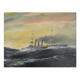 Emden rides the waves Indian Ocean 1914 2011 Postcard