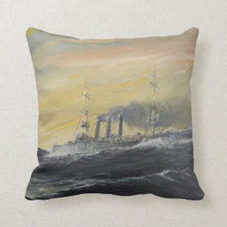 Emden rides the waves Indian Ocean 1914 2011 Throw Pillow