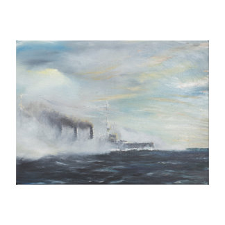 Emden 'The Swan of the East' 1914 2011 Canvas Print
