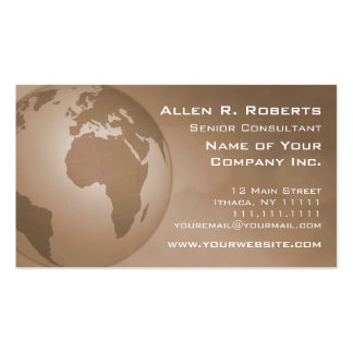 EMEA corporativo global Europa África Oriente Tarjetas De Visita