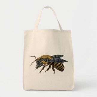 emek_bee_single grocery tote bag