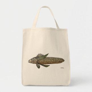 emek_CORNFISH_zazzle Grocery Tote Bag