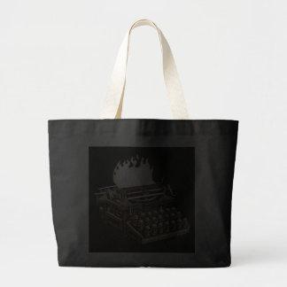 emek_keyboardofdeath_mouse jumbo tote bag