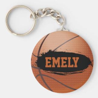 Emely Personalized Basketball Keychain / Keyring