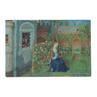Emelye in her garden. The imprisoned knights Palam Laminated Placemat