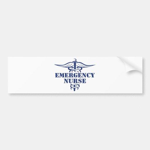 emer nurse bumper sticker