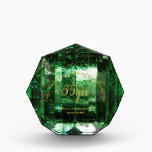 """EMERALD 55th Wedding Anniversary Green Crystal Acrylic Award<br><div class=""""desc"""">Wonderful giant diamond looking award for your parents,  mom and dad or grandparents celebrating a 40th RUBY wedding anniversary.</div>"""
