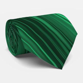 Emerald and black stripes tie