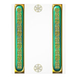 Emerald and Gold Celtic Knotwork Letterhead
