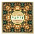Emerald and Gold Dinner Party Invitations