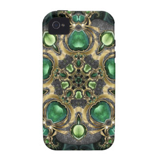 Emerald and Gold Kaleidoscope Case-Mate iPhone 4 Cases
