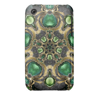 Emerald and Gold Kaleidoscope iPhone 3 Cover