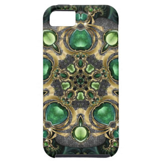 Emerald and Gold Kaleidoscope iPhone 5 Covers