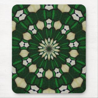 Emerald and Ivory Radial Mousepad