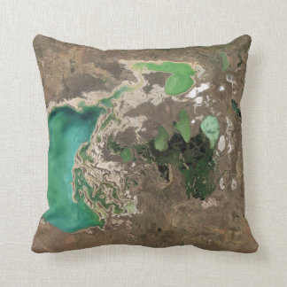 Emerald and Jade Lakes Pillow