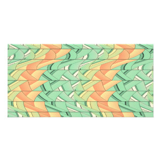 Emerald and salmon pattern card