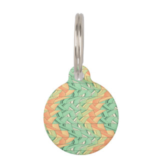 Emerald and salmon pattern pet tag