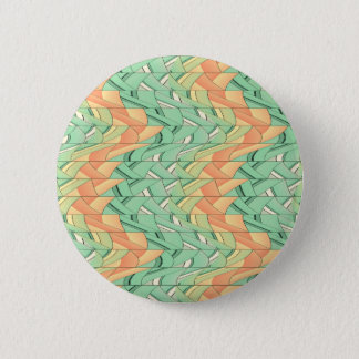 Emerald and salmon pattern pinback button