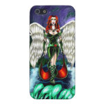 "Emerald Angel iPhone 5/5s Matte case by ""CaseSavvy iPhone 5/5S Cover"