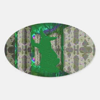 Emerald Anubis Fantasy Art Sticker