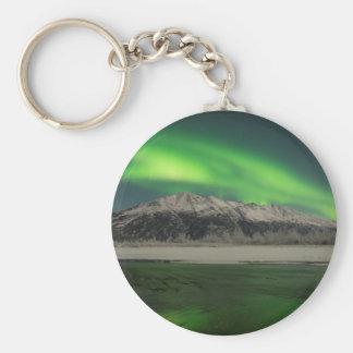 Emerald Aurora Basic Round Button Keychain