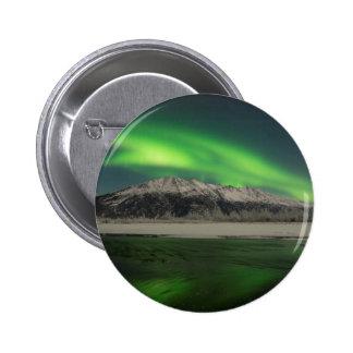 Emerald Aurora Pinback Button