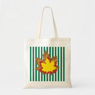 Emerald Autumnal Stripes Tote Bag