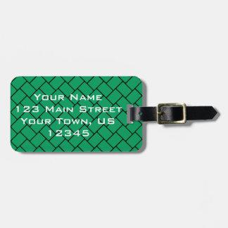 Emerald Basket Weave 2 Bag Tag