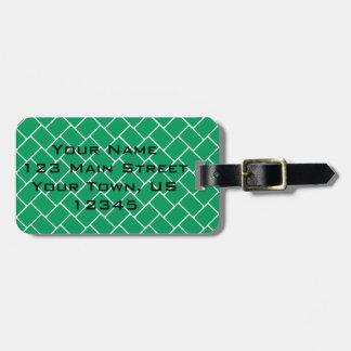 Emerald Basket Weave Luggage Tag