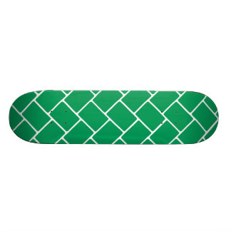 Emerald Basket Weave Skateboard