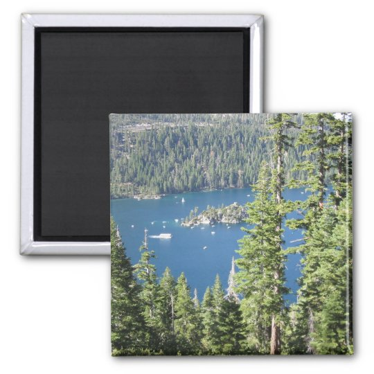 Emerald Bay 2 Inch Square Magnet