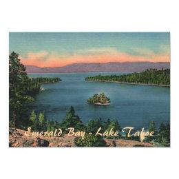 Emerald Bay - Lake Tahoe Party Invitation