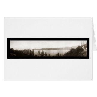 Emerald Bay Lake Tahoe Photo 1906 Greeting Card