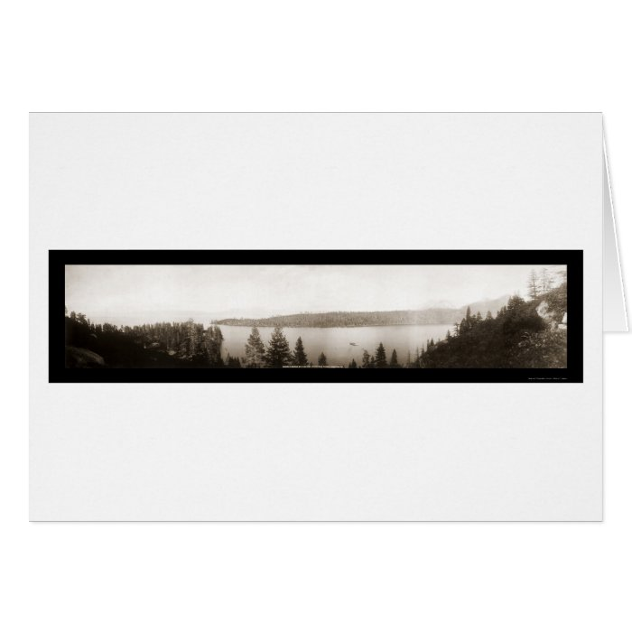 Emerald Bay Lake Tahoe Photo 1906 Card