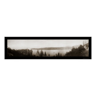 Emerald Bay Lake Tahoe Photo 1906 Poster