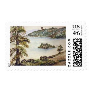 EMERALD BAY LAKE TAHOE POSTAGE STAMP