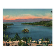 Emerald Bay - Lake Tahoe Postcard