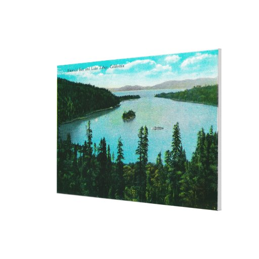Emerald Bay View on Lake TahoeLake Tahoe, CA Stretched Canvas Print