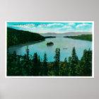 Emerald Bay View on Lake TahoeLake Tahoe, CA Poster