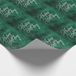 Emerald Birthday | Jade Green Jewel Tone Velvet Wrapping Paper