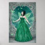 Emerald Birthstone Fairy Art Poster Print