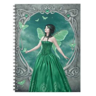 Emerald Birthstone Fairy Notebook