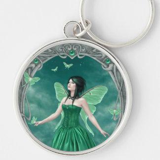 Emerald Birthstone Fairy Premium Keychain