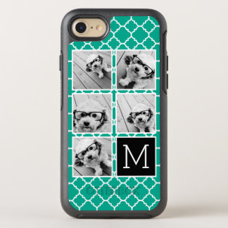 Emerald & Black Instagram 5 Photo Collage Monogram OtterBox Symmetry iPhone 7 Case