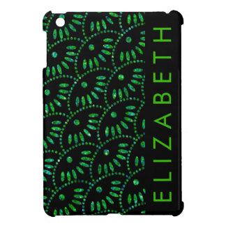 Emerald Black Personalized iPad Mini Case