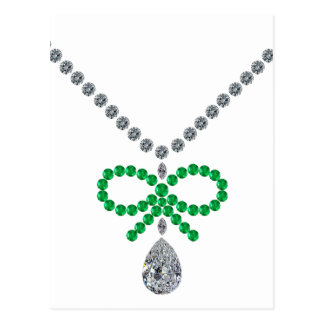 Emerald Bow Necklace Postcard