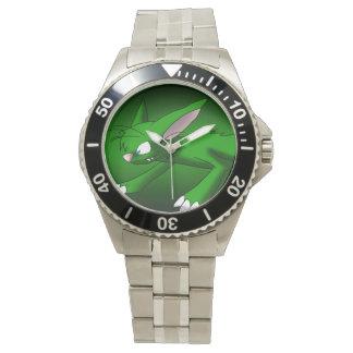 Emerald Cat Dragon Watch